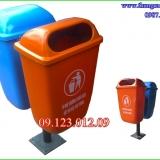 thùng rác nhựa treo đôi 55 lít
