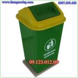 thùng rác - thùng rác nhựa có nắp