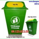 thùng rác - thùng rác nhựa composite 60 lít