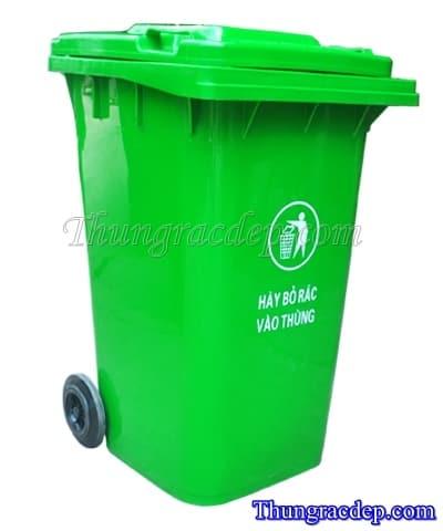 Thùng rác công cộng 240 lít nhựa HDPE