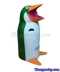Thùng rác nhựa chim cánh cụt