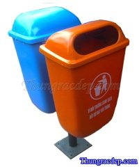 Thùng rác cố định treo đôi 55L