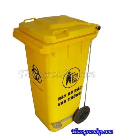 Thùng rác 120L có đạp chân