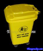 Thùng rác HDPE 60L màu vàng y tế