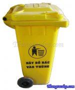 Thùng rác màu vàng 120L