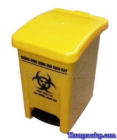 Thùng rác màu vàng 20L