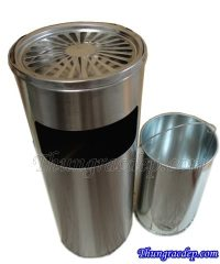 thung rac inox co gat tan tron
