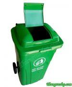 thùng đựng rác 150L nhựa công nghiệp HDPE